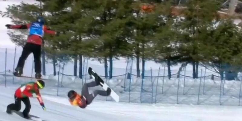 Son dakika Avusturyalı snowboard'cu boynunu kırdı ama yarışa devam etti