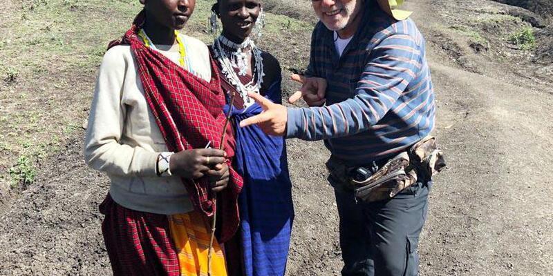 Afrika'da Masai kabilesini ziyaret ettiler
