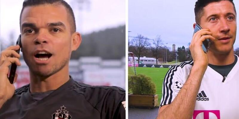 Lewandowski'den Pepe'ye 'Come to Beşiktaş' cevabı