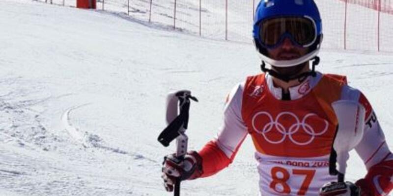 Alp disiplini kayakta Türk sporcu Serdar Deniz yarışı tamamlayamadı