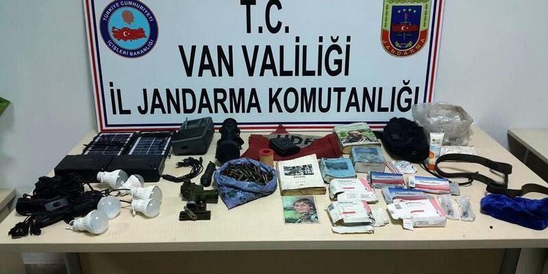 Van'da, PKK'lı teröristlere ait patlayıcı ve mühimmat ele geçirildi
