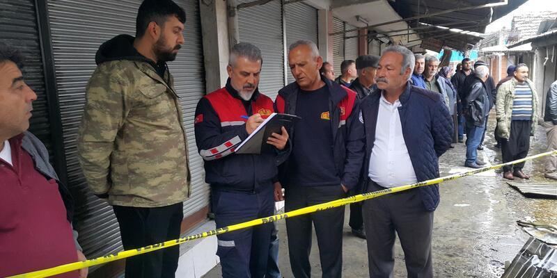 Osmaniye'deki çarşı yangını sonrası hasar tespit çalışmalarına başlandı