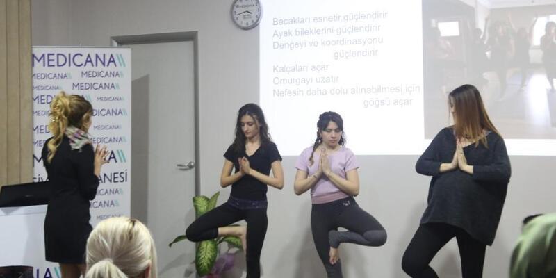 Gebelikte yoga semineri düzenlendi