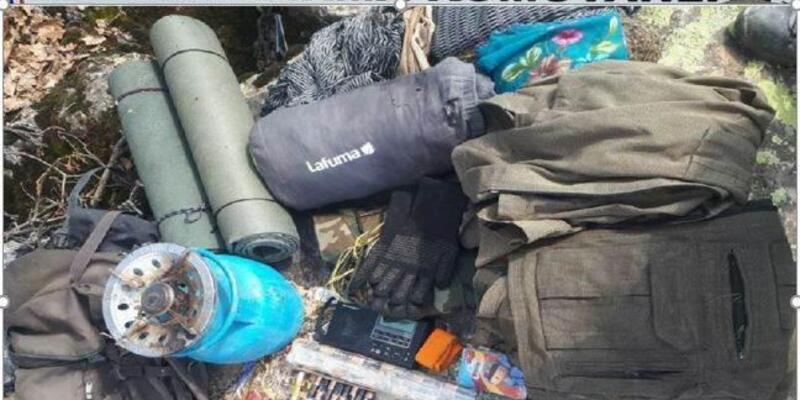 Muş'ta PKK malzemeleri ele geçirildi