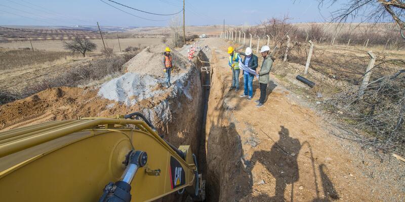 Kuyulu'da kanalizasyon altyapısı tamamlandı