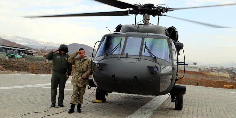 'Asker olup helikoptere binme' hayali gerçek oldu