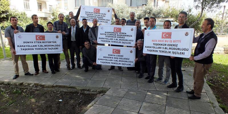Taşeron işçilerden Cumhurbaşkanı'na kadro teşekkürü
