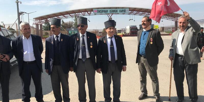 Ağrılı gaziler, 'Zeytin Dalı Harekatı'na destek için Kilis'te