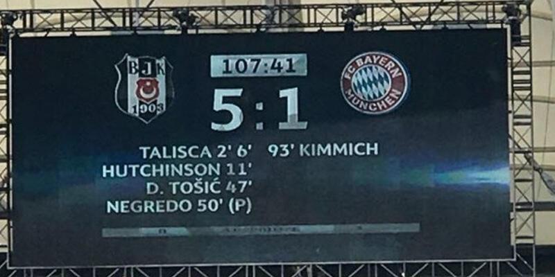 Beşiktaş - Bayern Münih maçı için skorbord denemesi yapıldı