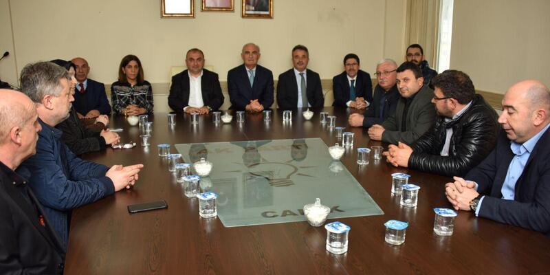 Başkan Yılmaz'dan AK Parti Canik ilçe başkanına ziyaret