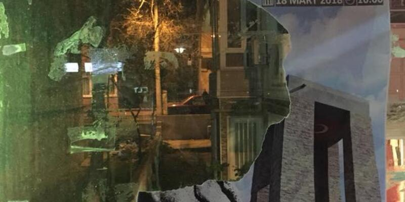 Çorlu'da, Atatürk fotoğrafının bulunduğu afişler yırtıldı