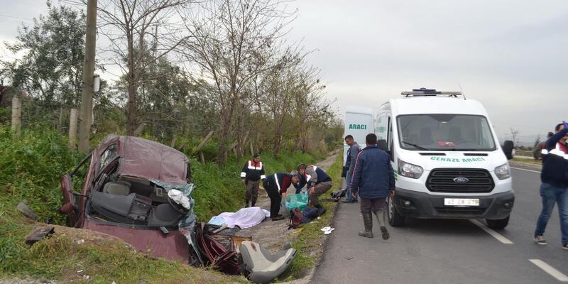 Otomobil su tahliye kanalına düştü: 1'i bebek 3 ölü