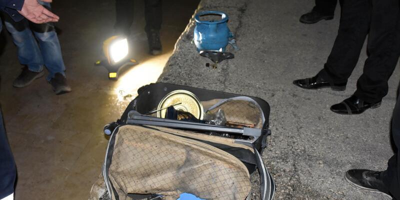 Trende unutulan şüpheli valiz, fünye ile patlatıldı