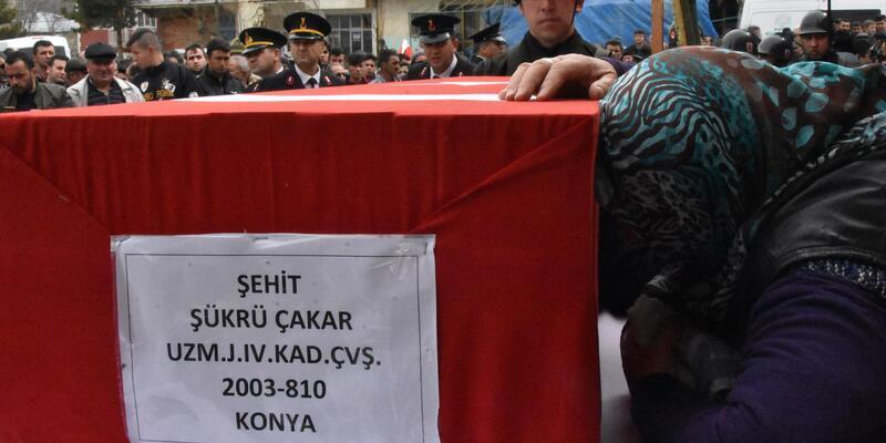 Bitlis şehidi Uzman Çavuş, Konya'da son yolculuğuna uğurlandı