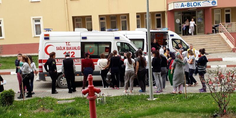 Tokat'ta 69 öğrenci gıda zehirlenmesi şüphesiyle hastaneye kaldırıldı