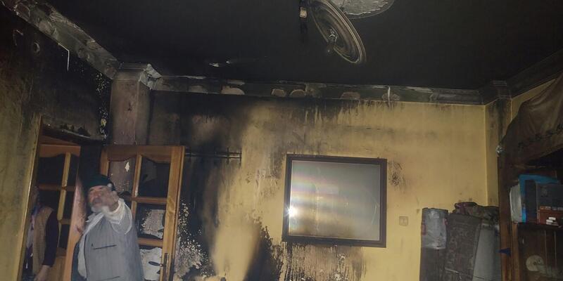 Sobadan sıçrayan kıvılcımlar odayı yaktı