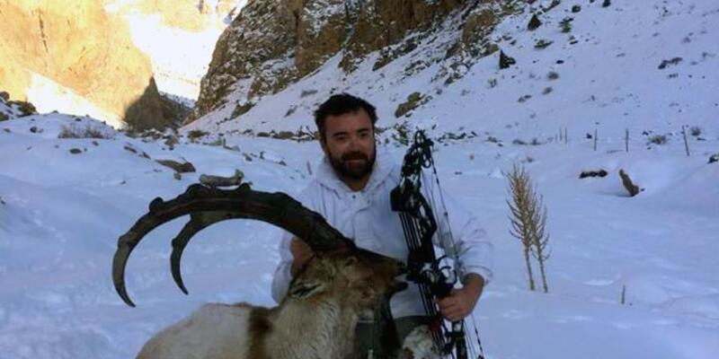 Niğde'de av turizmi kapsamında okla dağ keçisi vuruldu