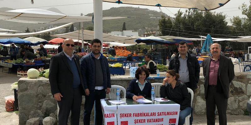 Bodrum'da CHP'lilerden 'Şeker Fabrikaları' için imza kampanyası