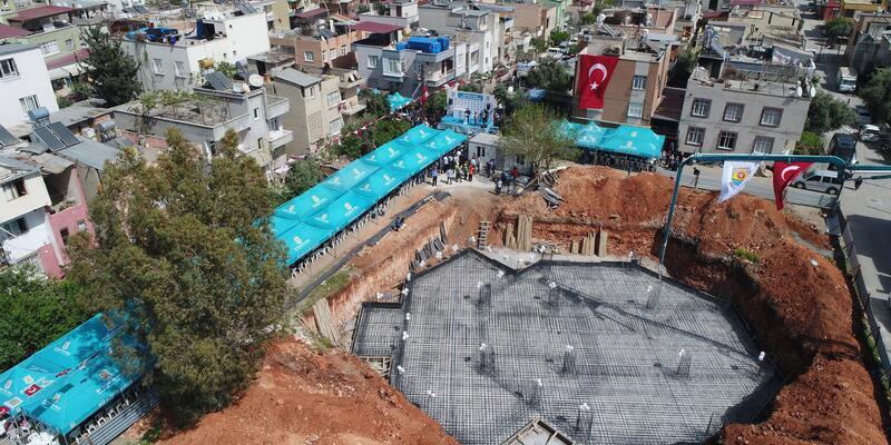 Tarsus'ta Kavaklı Mahallesi Camii'nin temeli atıldı