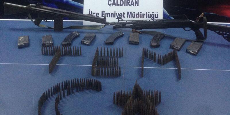 Van'da terör şüphelisinin evinde silah ve mühimmat ele geçirildi