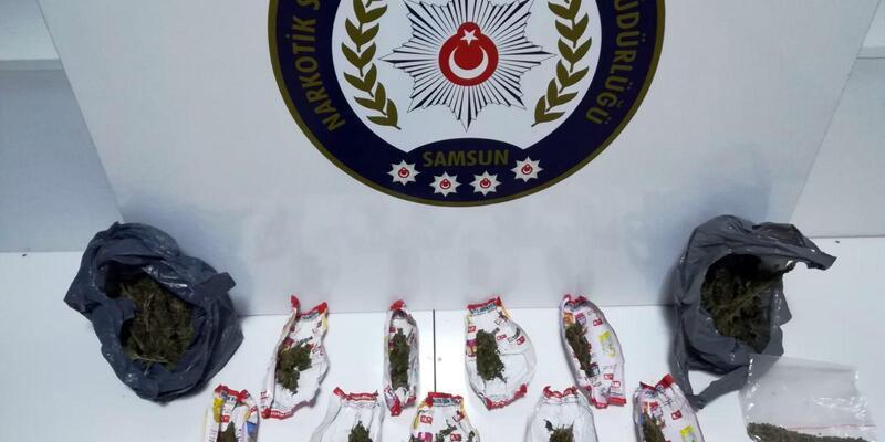 Samsun'da uyuşturucu operasyonuna 1 tutuklama