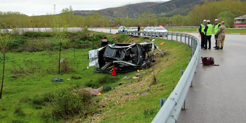 Tokat'ta otomobil takla attı: Serkan ve Elif öldü