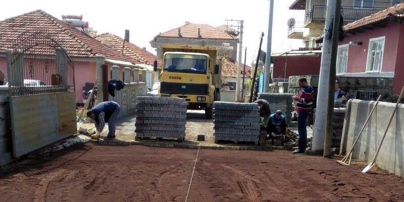 Akgün'de sokaklar yenileniyor