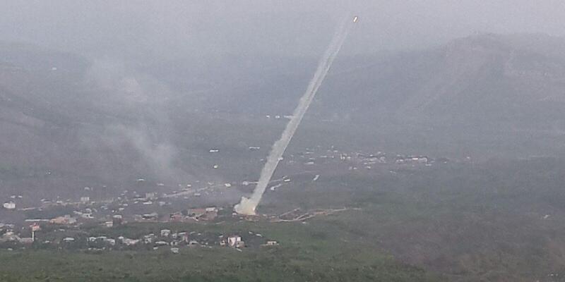 Derecik'ten PKK'nın Hakurk kampına yoğun top atışı