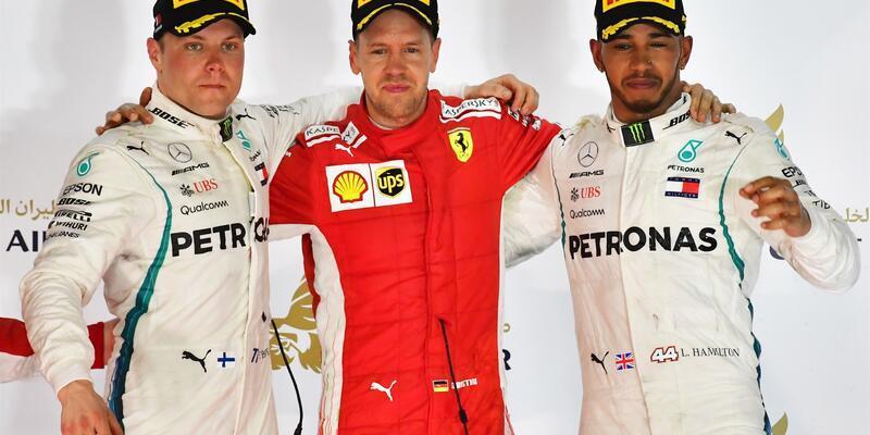 Vettel Bahreyn'in galibi