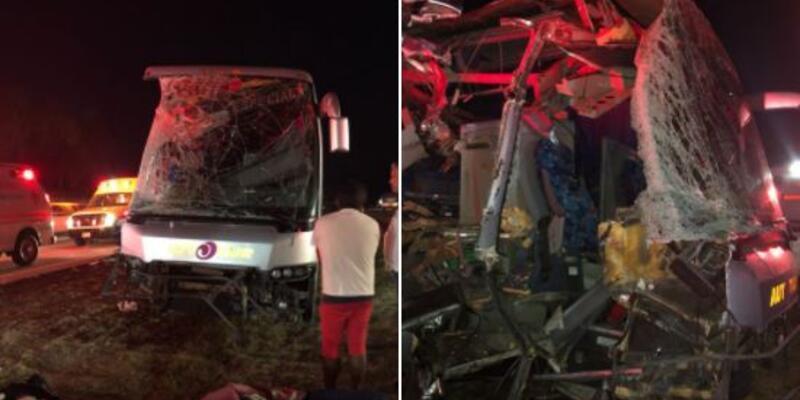 Meksika 1. Lig takımını taşıyan otobüs bu hale geldi