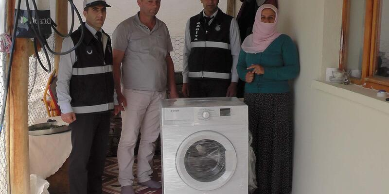 Rabia'nın annesine çamaşır makinesi hayali gerçekleşti