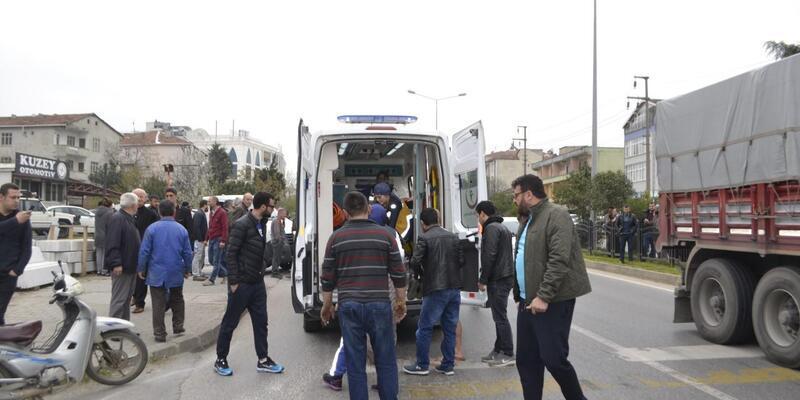 Samsun'da ters yön kazası: 1 yaralı
