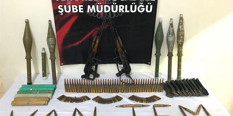 PKK'nın silahları boş binadan çıktı