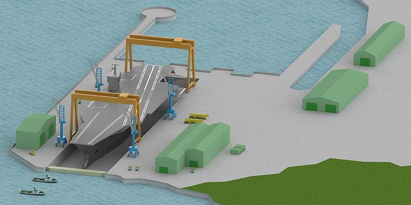 Türkiye'de uçak gemisi için tersane inşa edilecek