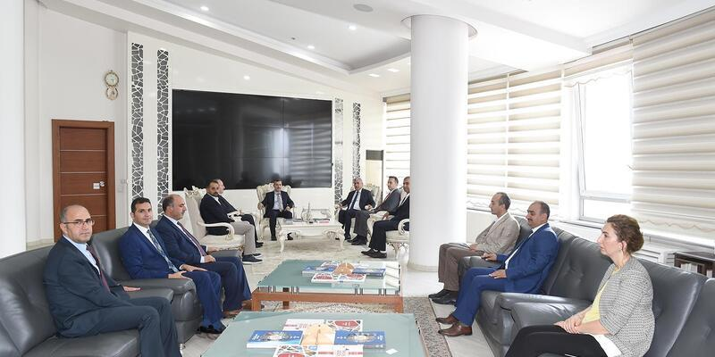 Başkan Çınar'dan, Başkan Polat'a ziyaret