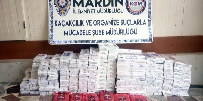 Mardin'de kaçak sigara ve uyuşturucu operasyonu