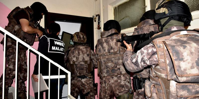 Malatya ve İstanbul'da uyuşturucu operasyonu: 20 gözaltı