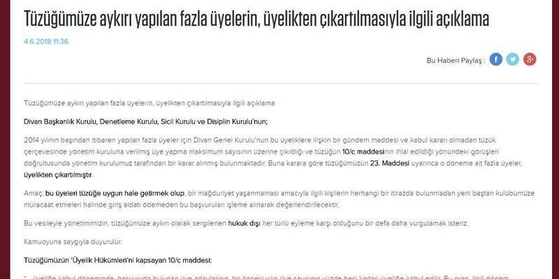 Trabzonspor'da tüzüğe aykırı üyelere ihraç