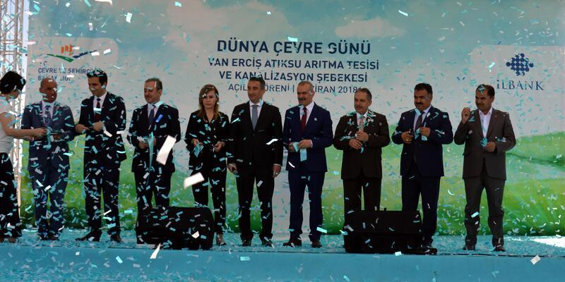 Erciş'teki atık su arıtma tesisi hizmete açıldı