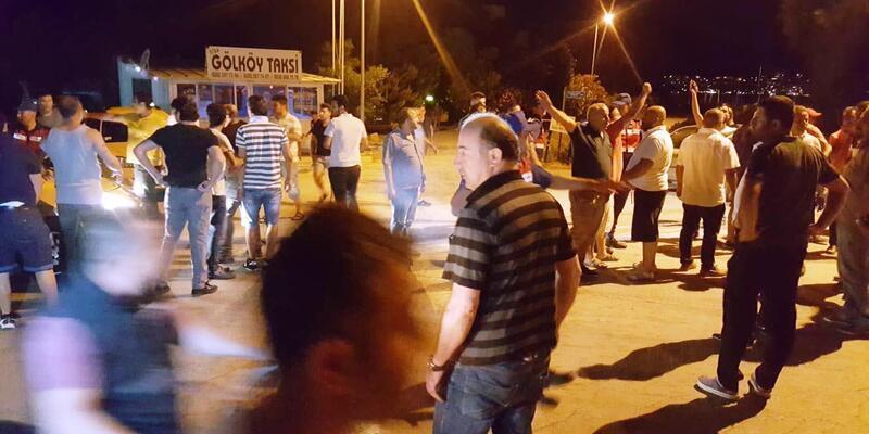 Bodrum'da 'Uber' sürücüsü sanılan kişiler ile taksiciler arasında arbede