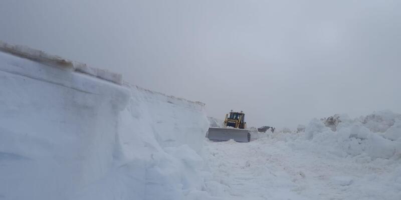 Doğu Karadeniz'de haziranda 4 metrelik karla mücadele