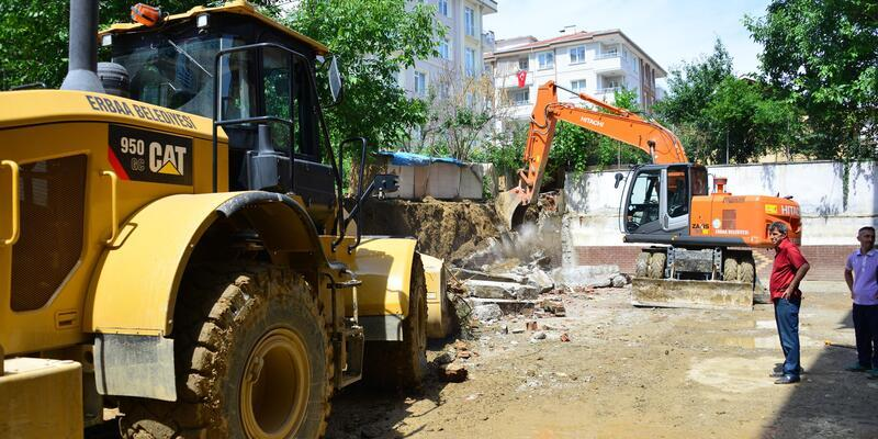 Erbaa'da sağanak sonrası hasar tespiti