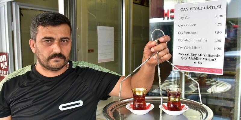 Çay fiyatını müşterinin 'nezaketi' belirliyor