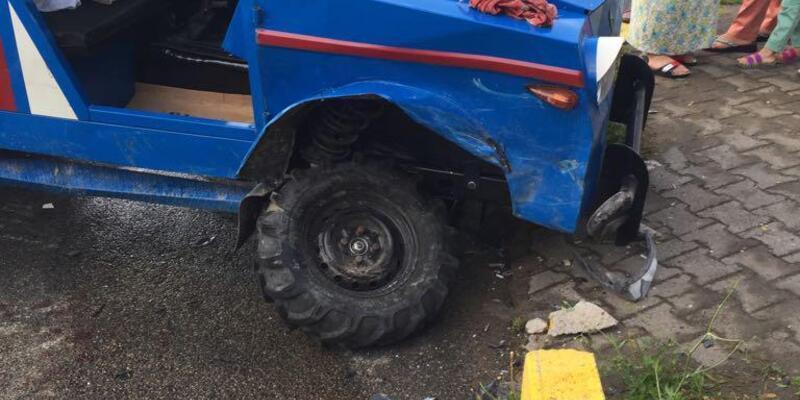 Ordu'da otomobil ile patpat çarpıştı: 9 yaralı