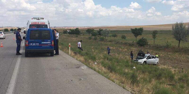 Takla atan otomobil şarampole yuvarlandı: 1 ölü, 4 yaralı