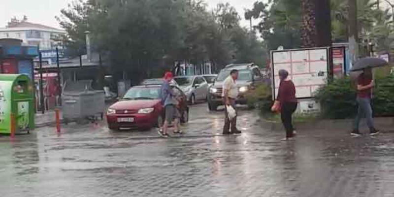 Ortaca'da sanağak yağmur