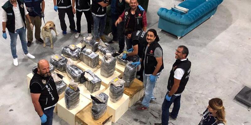 Kayseri'de 235 kilo 'eroin' ele geçirildi