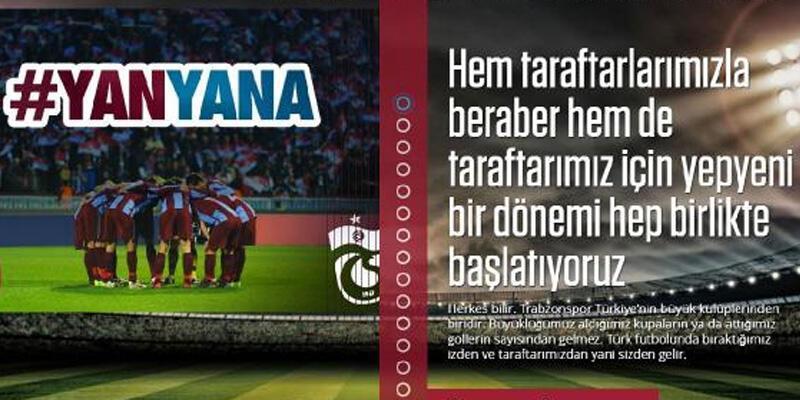 Trabzonspor'dan imza kampanyası: Yan yana bitişik yazılsın