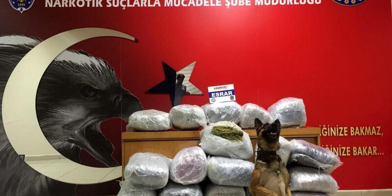 Mersin'de 110 kilo esrara 1 tutuklama