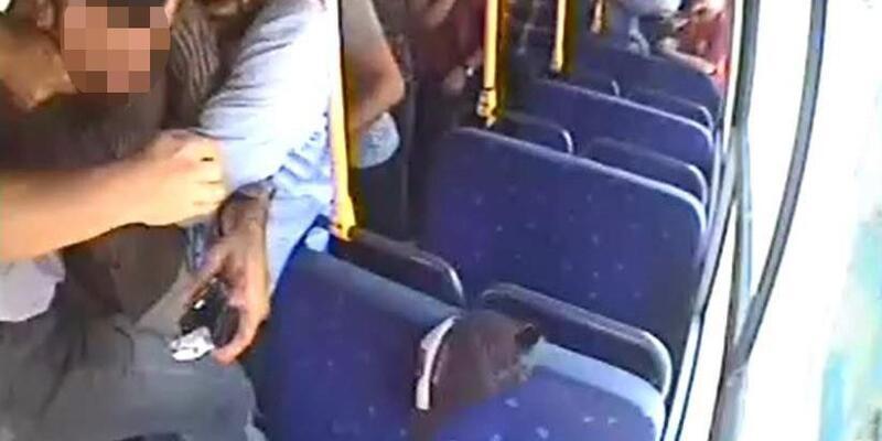 Halk otobüsünde öldüren tartışma